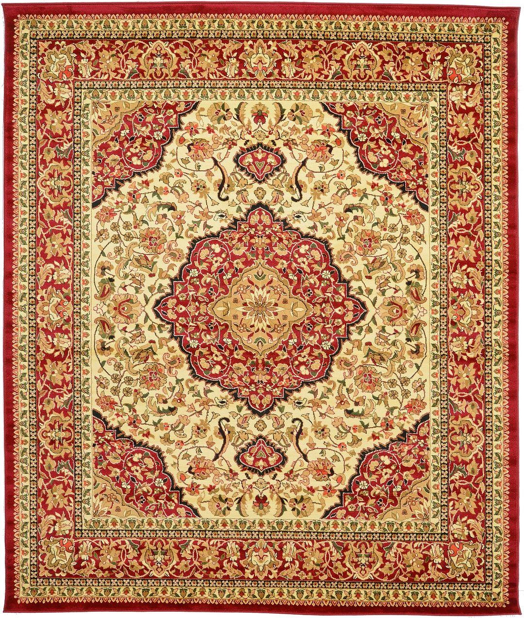 Ivory 8' 2 x 9' 10 Kashan Rug | Area Rugs | eSaleRugs