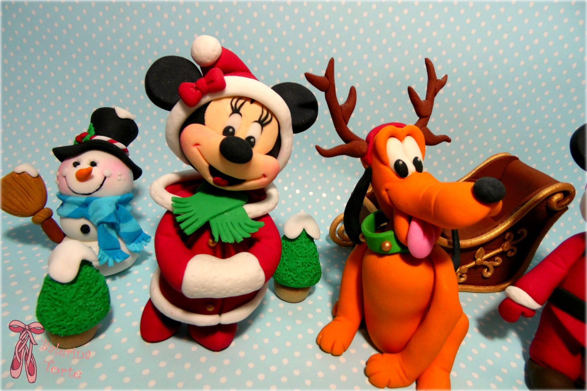 Disney Mickey and Minnie Mouse lovely Christmas cake – Miki i Mini Maus novogodisnja torta by Balerina Jagodina