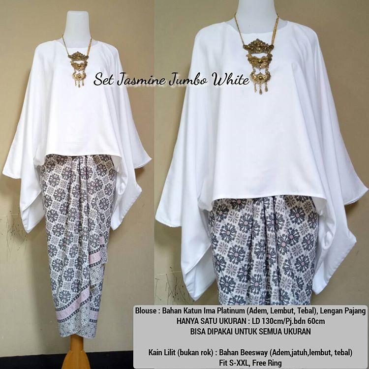 Jual Setelan Kebaya Batwing Kutu Baru White - Butik Busana Fashion ... dc7f399a1d