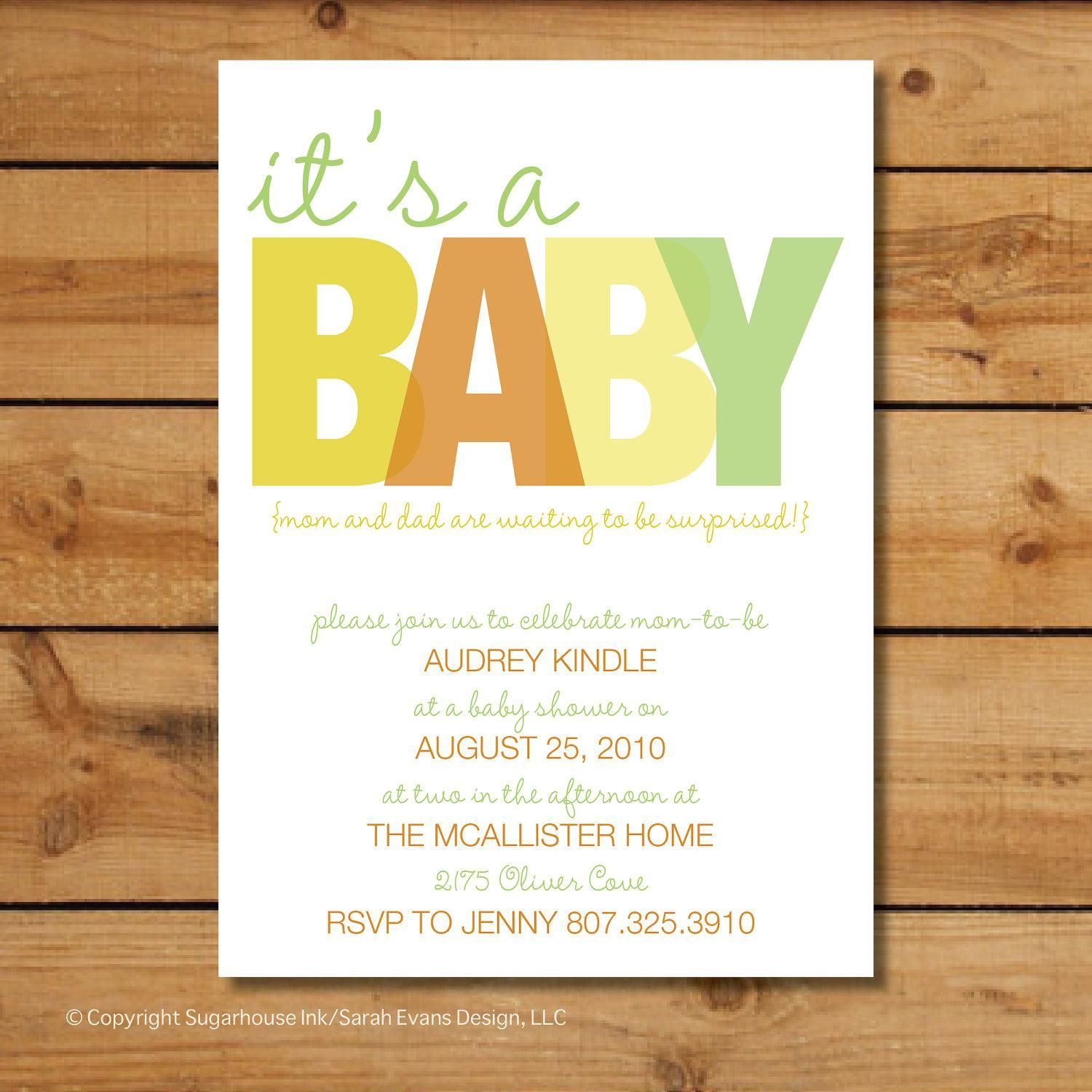Baby Shower Invitation Card Baby Shower Invitation Book