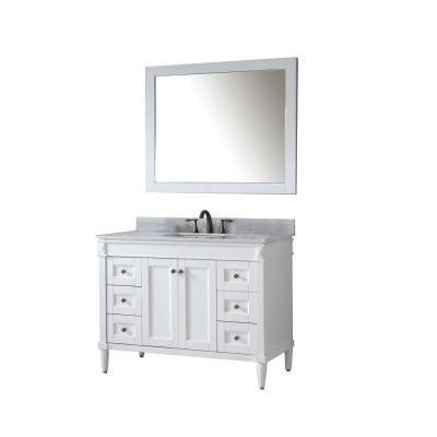 Gallery For Website Virtu USA Tiffany in Vanity in Antique White with Marble Vanity Top in Italian