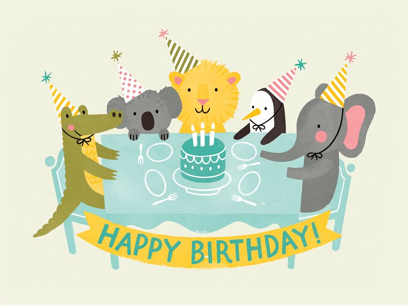Party Animals With Images Happy Birthday Kids Birthday