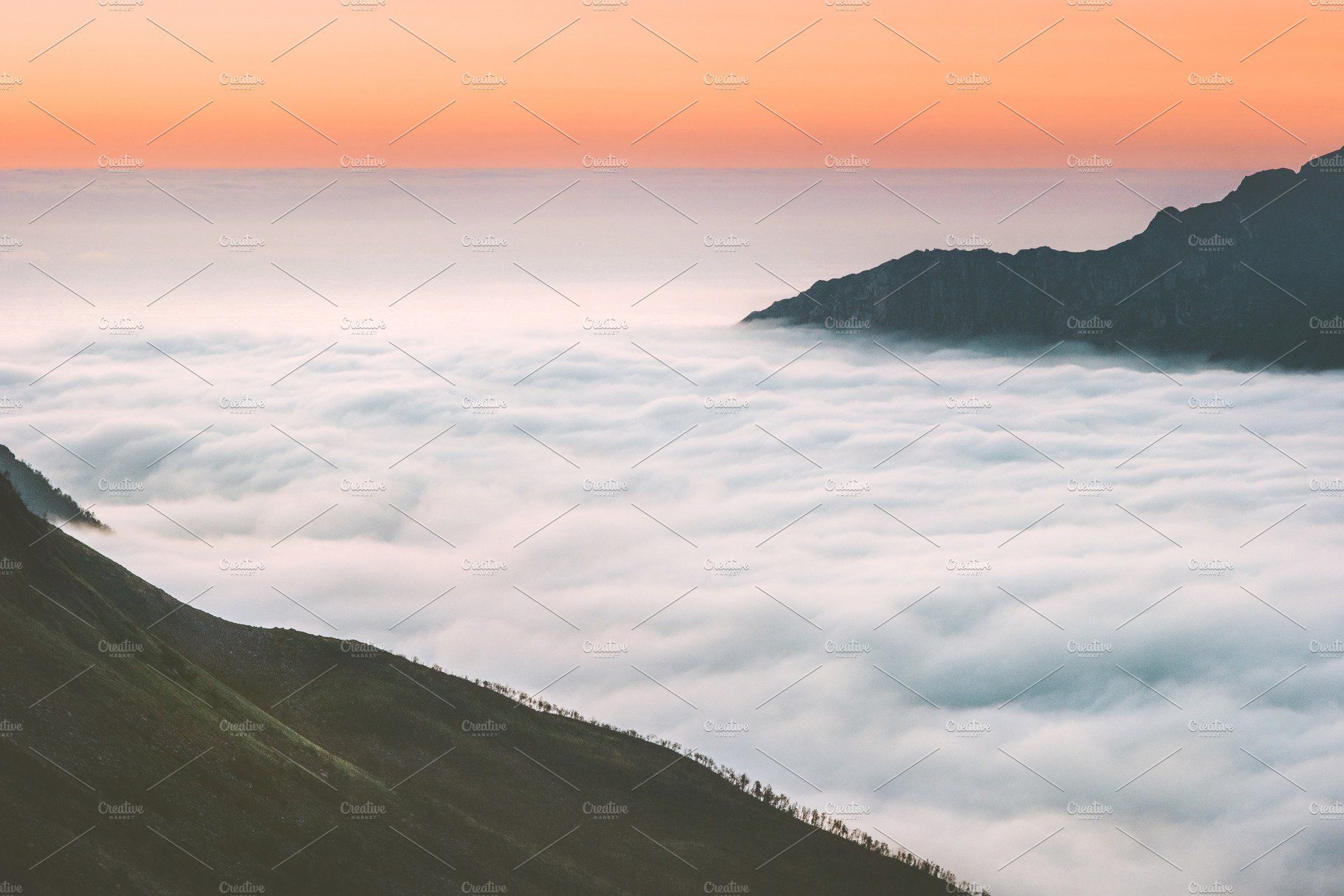 Aerial View Clouds And Mountains Mountain Photography Aerial View Mountain Sunset Landscapes