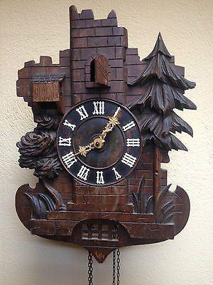 Very Rare Black Forest Ghs Echo Cuckoo Clock Two Bird 4 Pipes Cuckoo Clock Clock Cuckoo