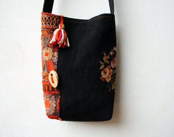 Fille du Ventan Embroidered Wool CrossBody by LaTouchables