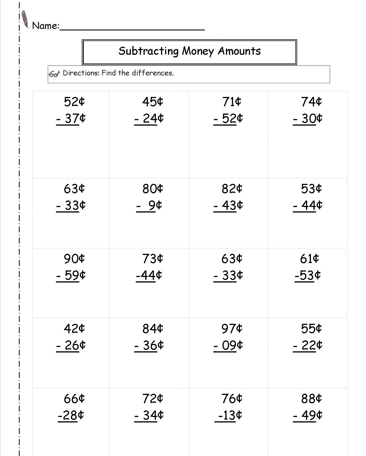 2nd Grade Money Worksheets In