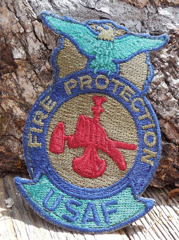 USAF US Air Force Fire Protection Patch Fireman Military