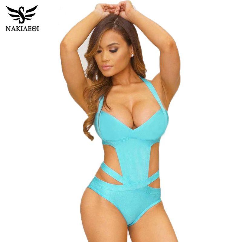 nakiaeoi 2017 europe sexy one piece swimsuit plus size swimwear