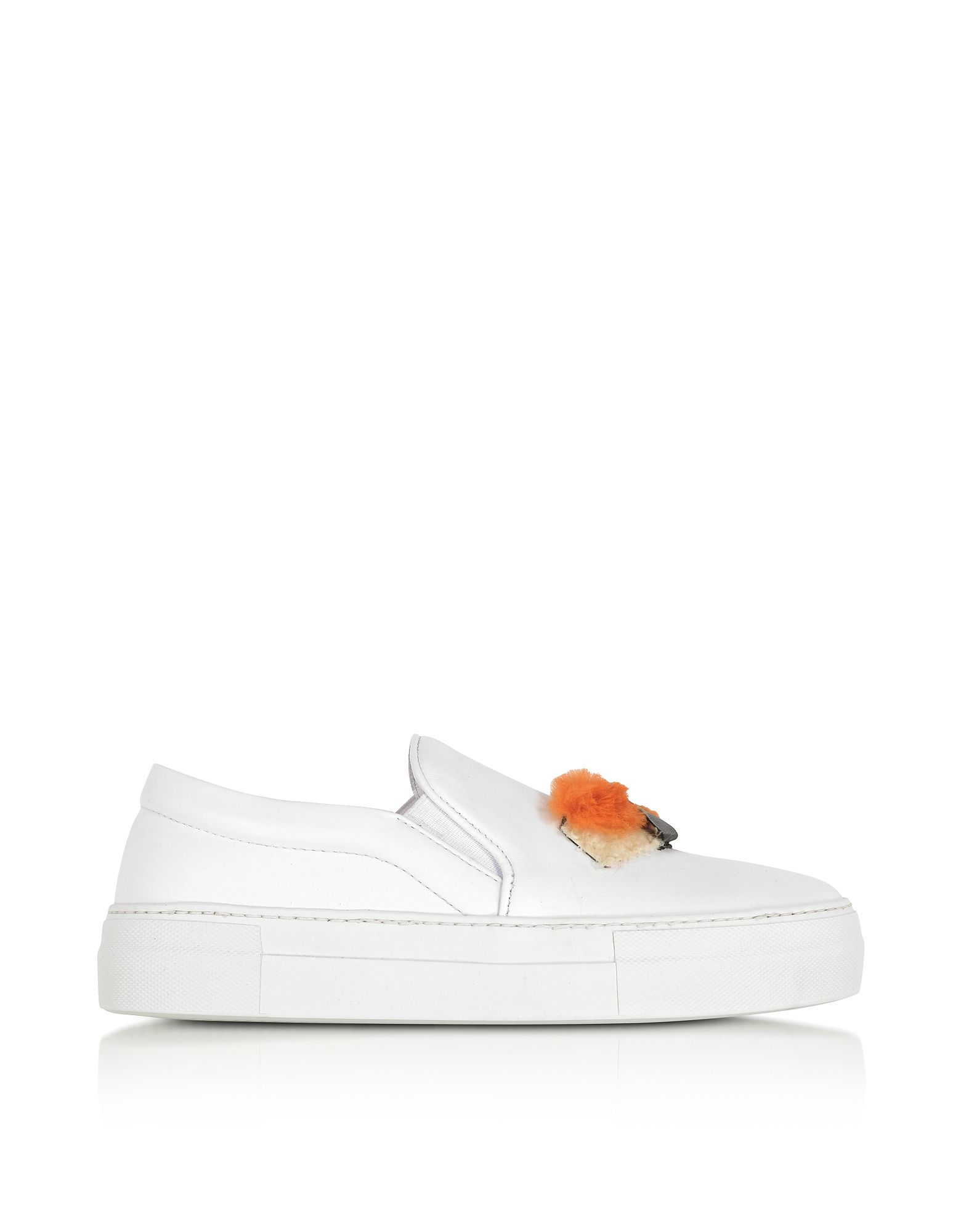 JOSHUA SANDERS Designer Shoes, Sushi Leather Slip On Women's Sneakers