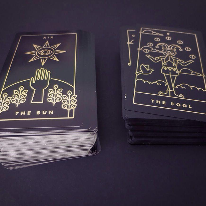 Black And Gold Foil Tarot Cards Magic Witchcraft And Tarot At