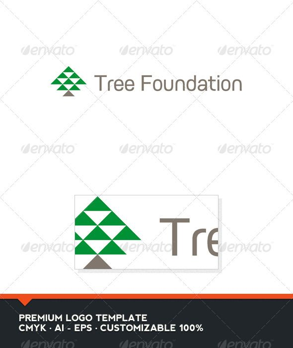 Tree Foundation Logo Template Trees, Logos and Fonts