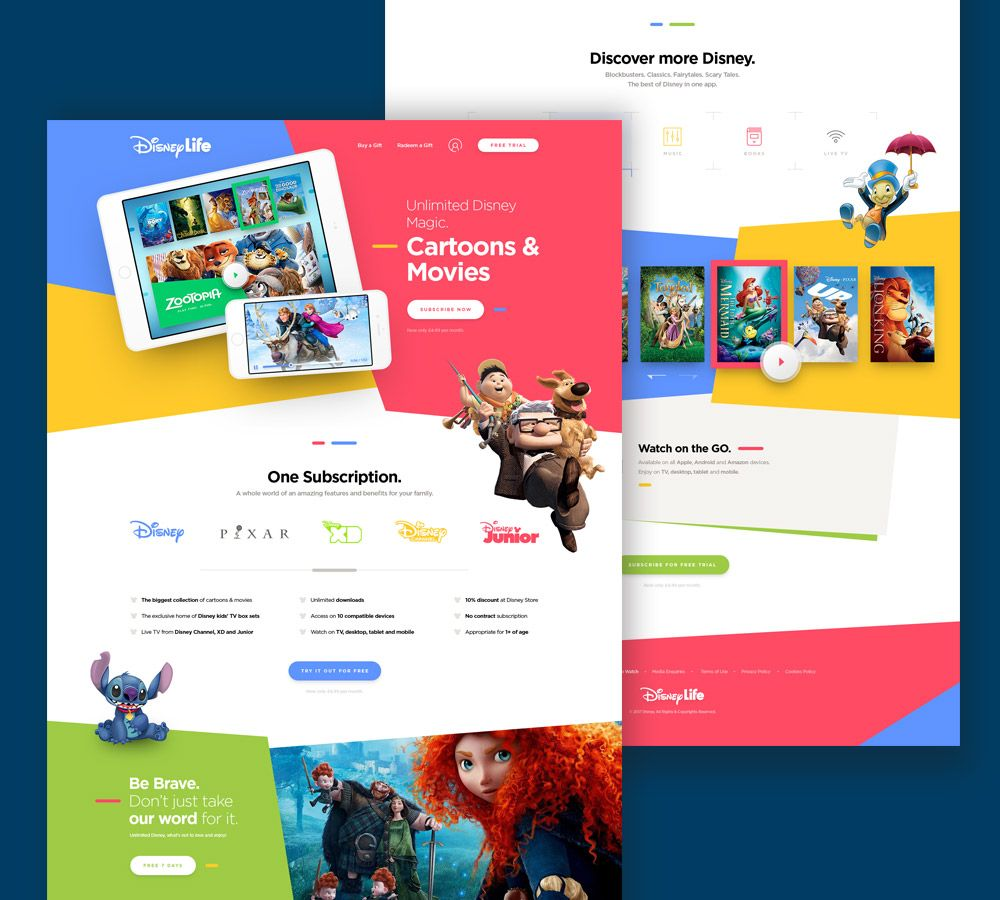 Awesome Kids Cartoon and Movies Website Template PSD. Download ...