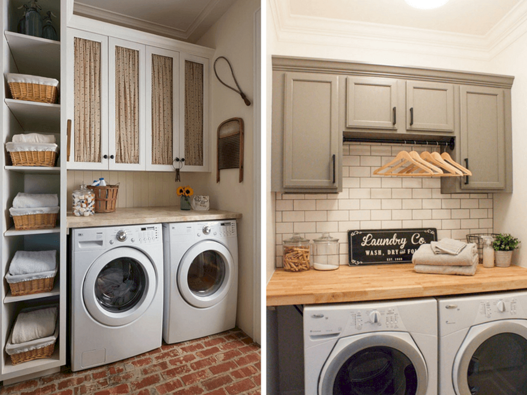 Inspiring 28 Best And Stylish Small Laundry Room Hacks For Your Home Ideas And Inspiration Https De Small Laundry Rooms Laundry Room Hacks Laundry Room Decor
