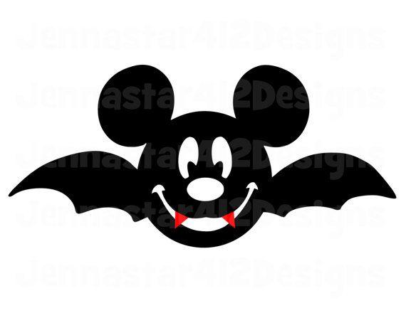 Coloring Pages Disney Halloween : Halloween mickey face bat diy printable by jennastar designs