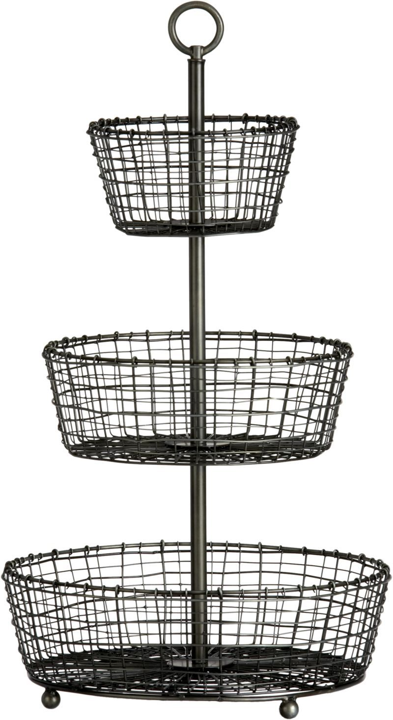 Three Tier Basket In 2020 Basket And Crate Home Decor Baskets Crate And Barrel