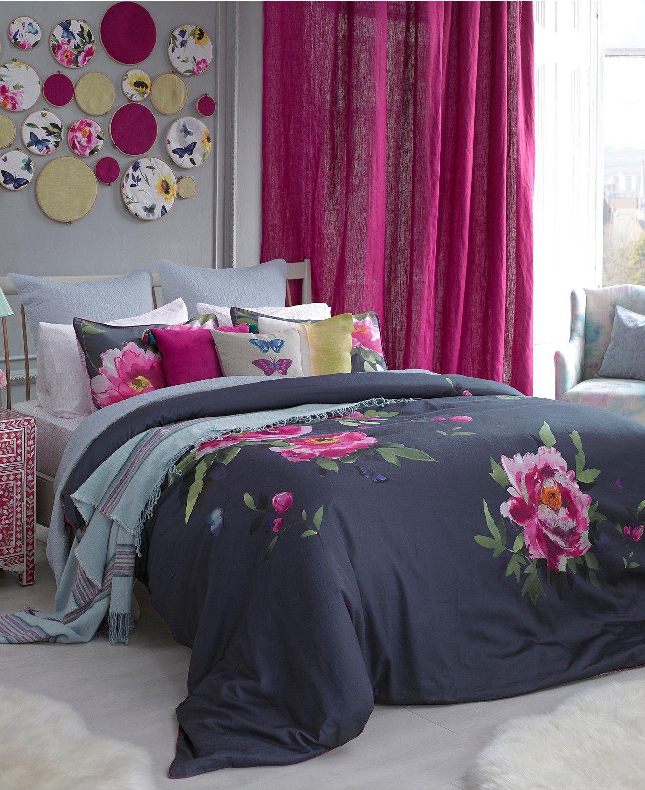 CLOSEOUT! bluebellgray Butterfly Moonlight Blue Bedding