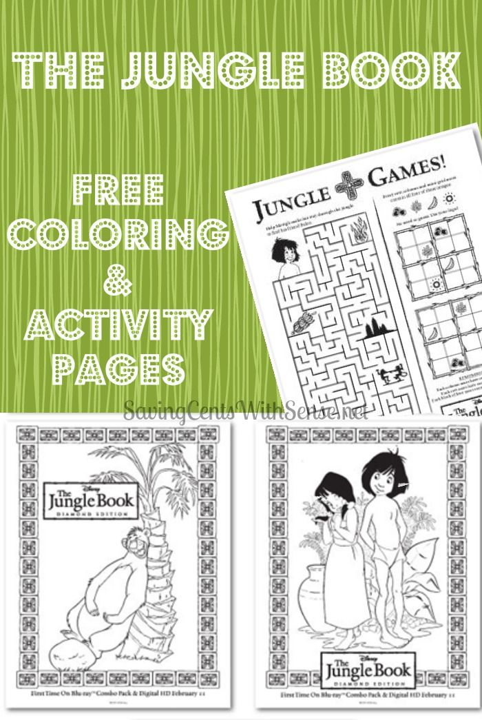 Free Jungle Book Coloring and Activity Pages - the movie is being ...
