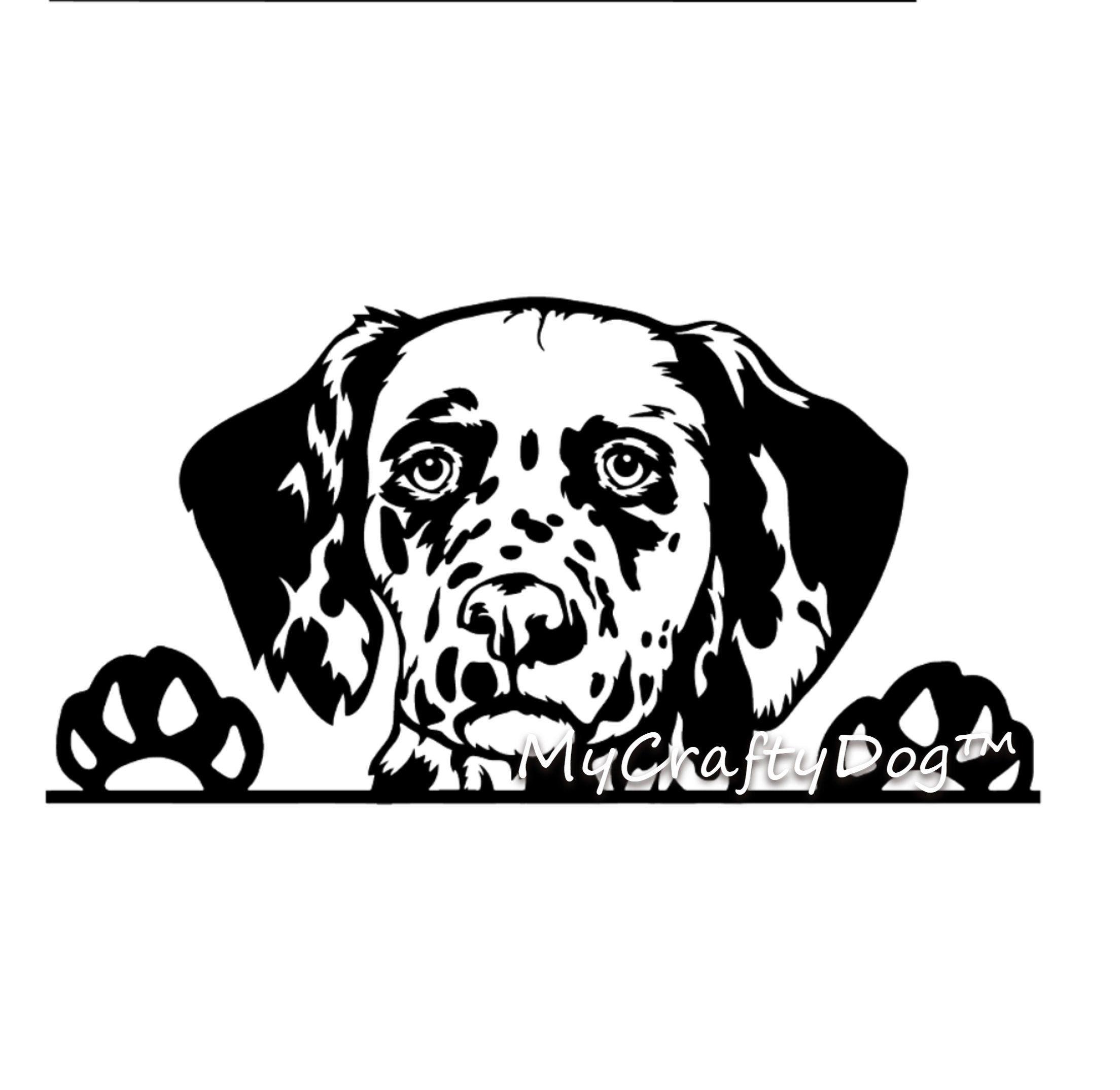 Dalmatian Peeking Dog Car Decal Sticker Dalmatian Dog Etsy Vinyl Car Stickers Dog Decals Car Decals Stickers [ 2148 x 2208 Pixel ]