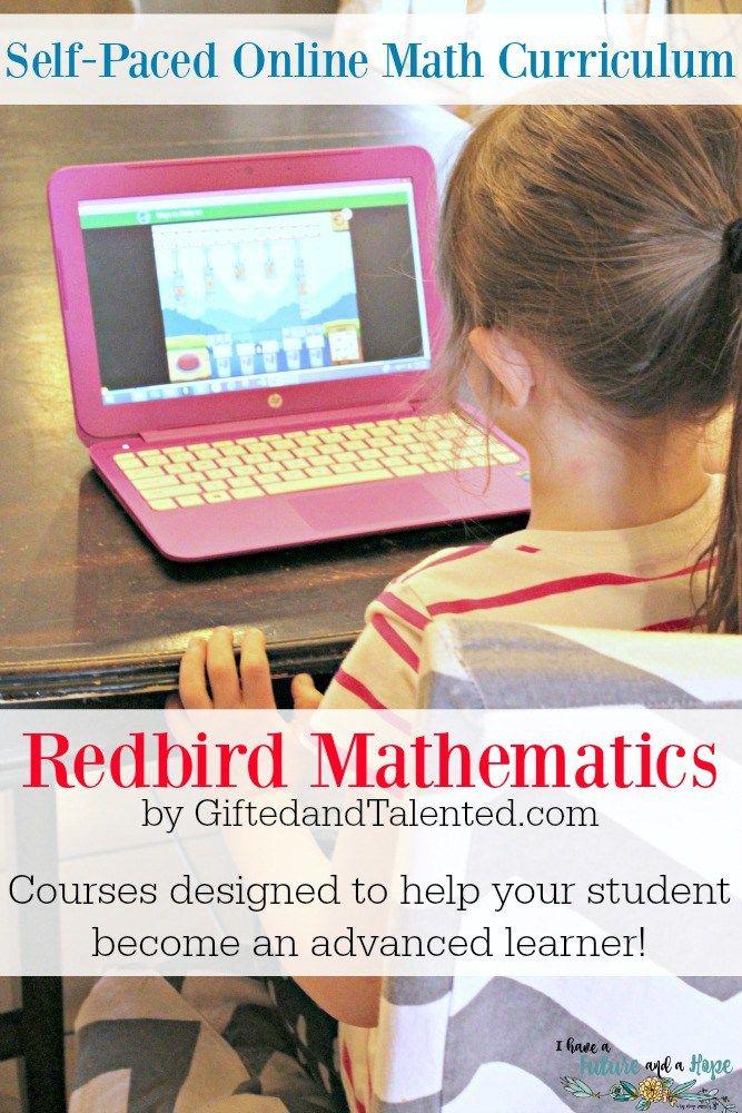 Redbird math by GiftedandTalented.com advanced online math curriculum