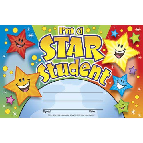 i u0026 39 m a star student recognition awards