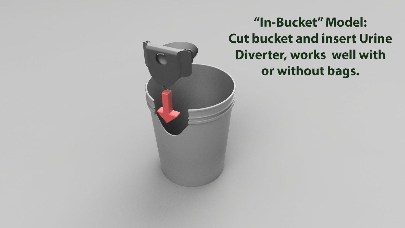 Diy composting toilet urine diverter and ventilation