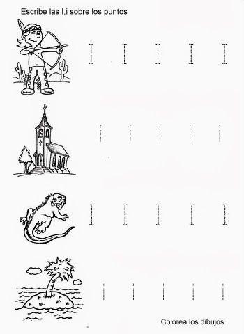 La letra I para escolares  Dibujos  Escolares  Pinterest  Las