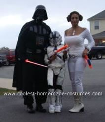 Coolest Homemade Princess Leia Costume  sc 1 st  Pinterest & Coolest Homemade Princess Leia Costume | Leia costume Star wars ...