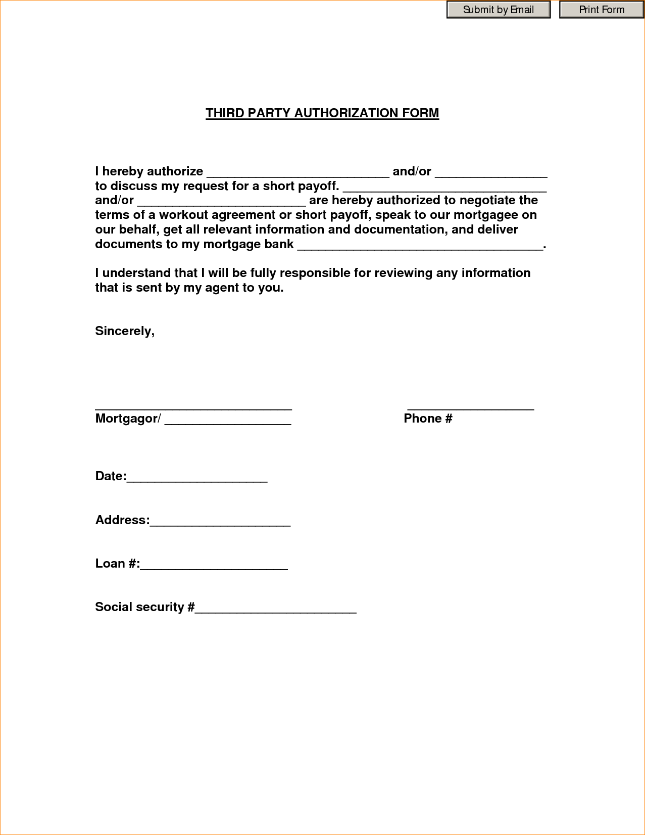 Bpi Authorization Letter Sample Printable Letterthorization  Home
