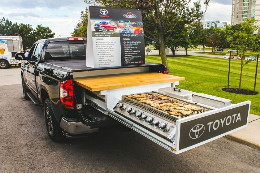When your summer grilling game is strong, very strong! Happy first day of Summer everyone! #firstdayofsummer #grillenvy #grilling #tundra #toyota #prioritytoyota #summer