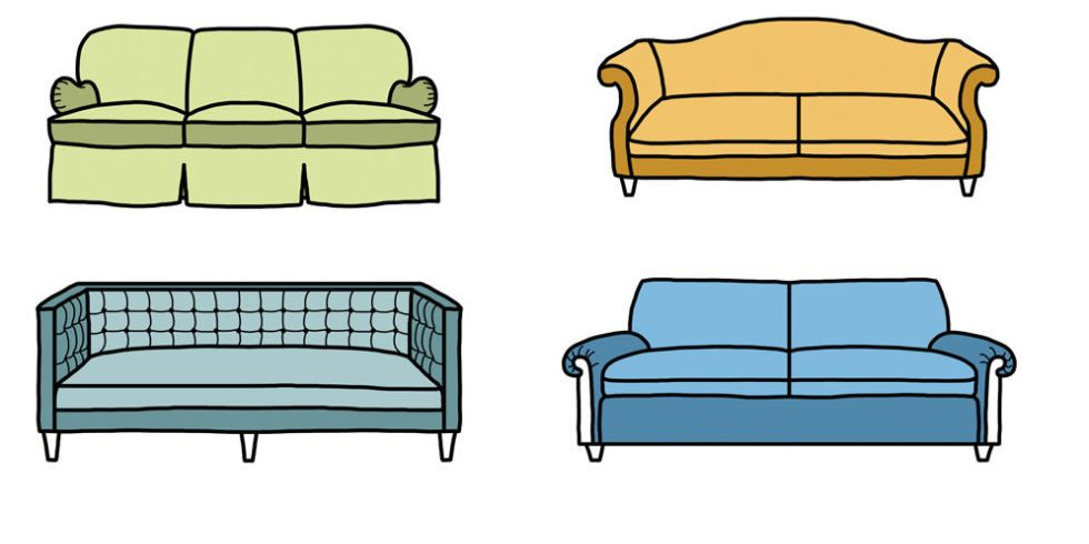 How To Choose The Right Sofa For Your Space Sofa Styling Types Of Couches Living Room Furniture Layout