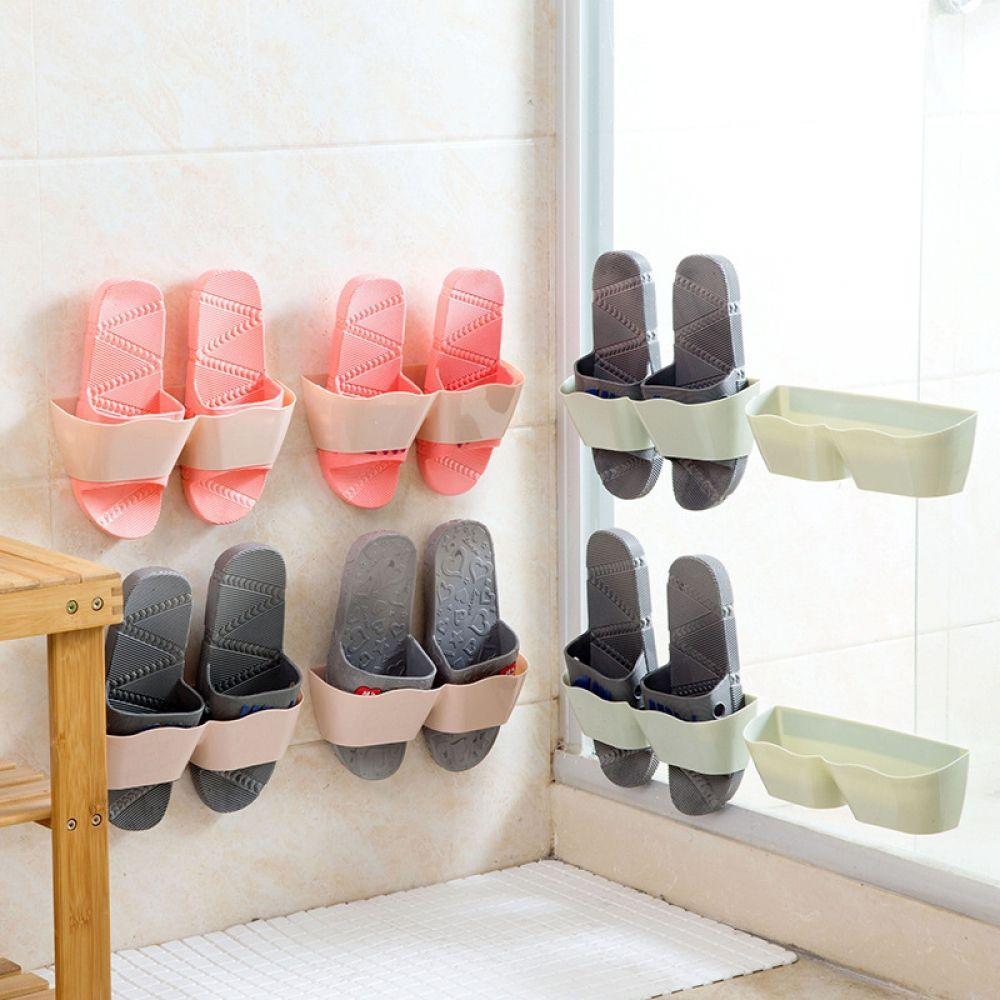 Wall Mounted Shoe Storage Rack Hanging Shelf Slipper Holder Save Space Organizer