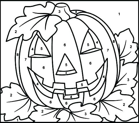 Color By Number Worksheets For Kindergarten Google Search Free Halloween Coloring Pages Halloween Coloring Pages Halloween Coloring