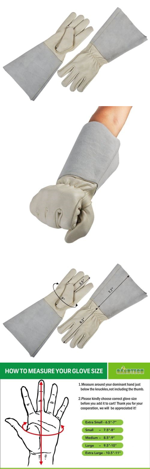 Gardening Gloves 139864: Garden Gloves With Long Sleeves Thorn Proof  Goatskin Leather Rose Pruning Unisex