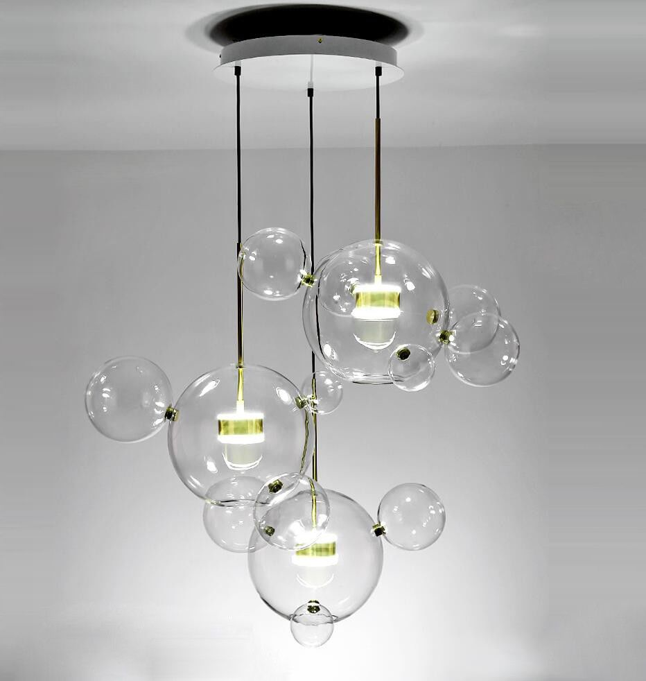 reputable site b6c63 e96e8 LED Glass Mickey Bubble Pendant Lamp Chandeliers Ceiling ...