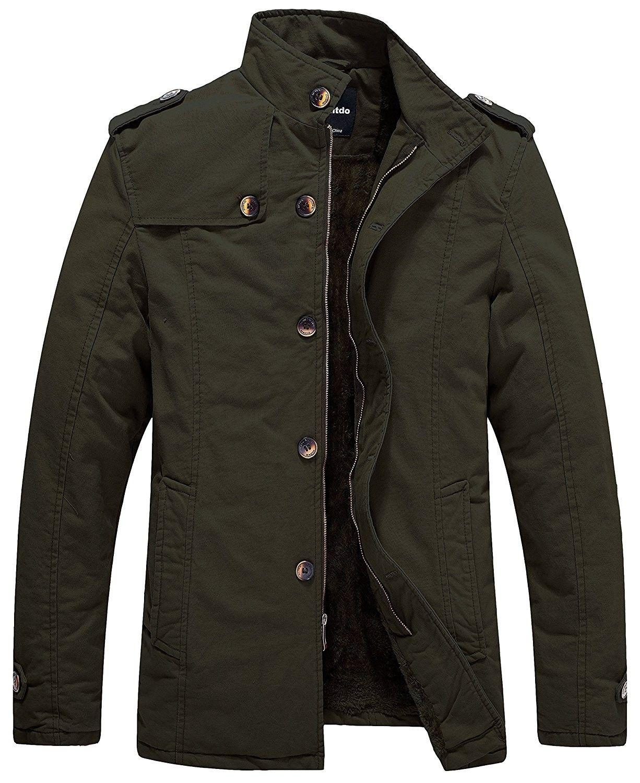 Men S Cotton Stand Collar Jacket With Fleece Army Green Cs1827khixm Stand Collar Jackets Stylish Winter Jacket Mens Jacket Black [ 1500 x 1226 Pixel ]