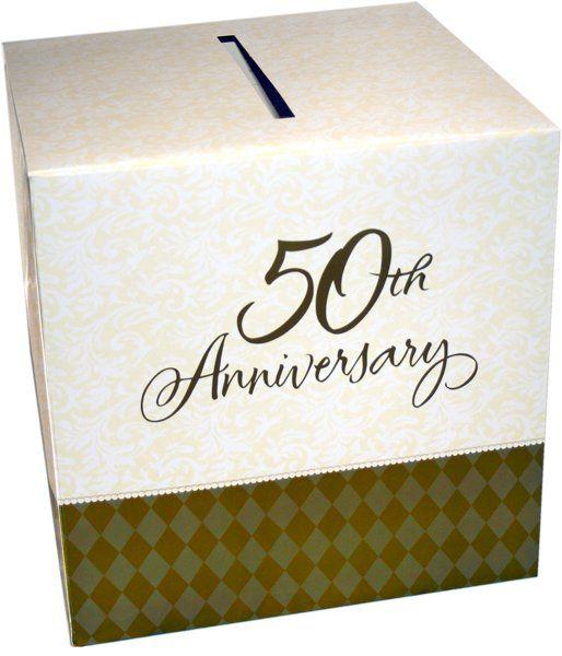 Anniversary Card Box 50th Anniversary Party Anniversary Parties Anniversary Cards