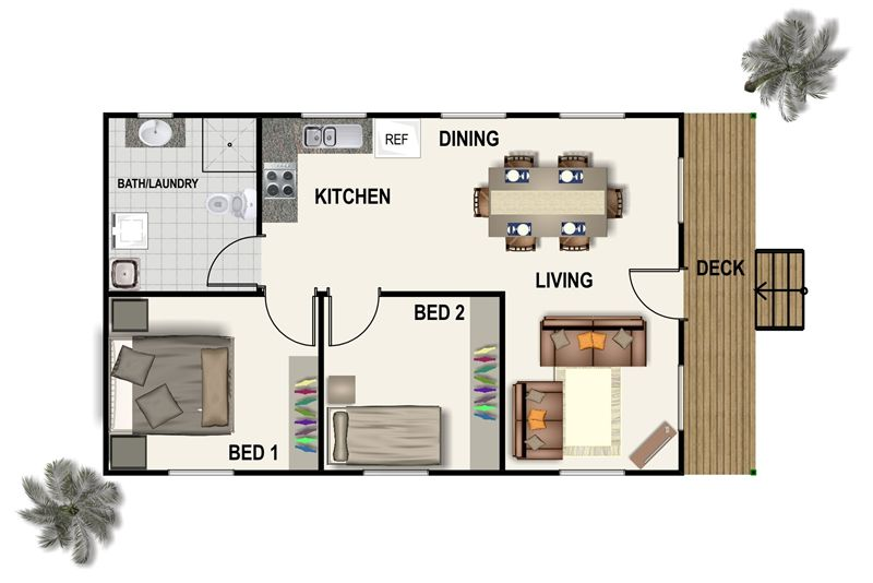 Granny flat b bfp 070610 our camp house pinterest for Granny flats floor plans