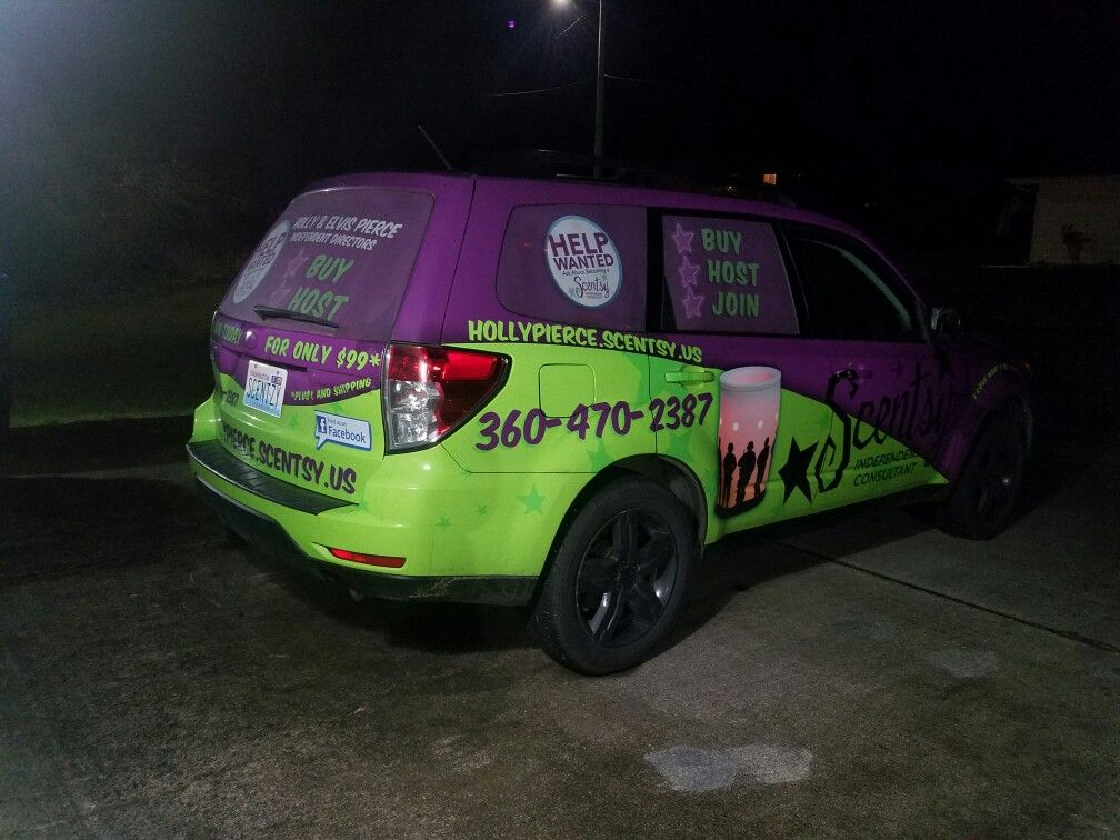 I love my Scentsy car wrap! You can never miss me. in 2019