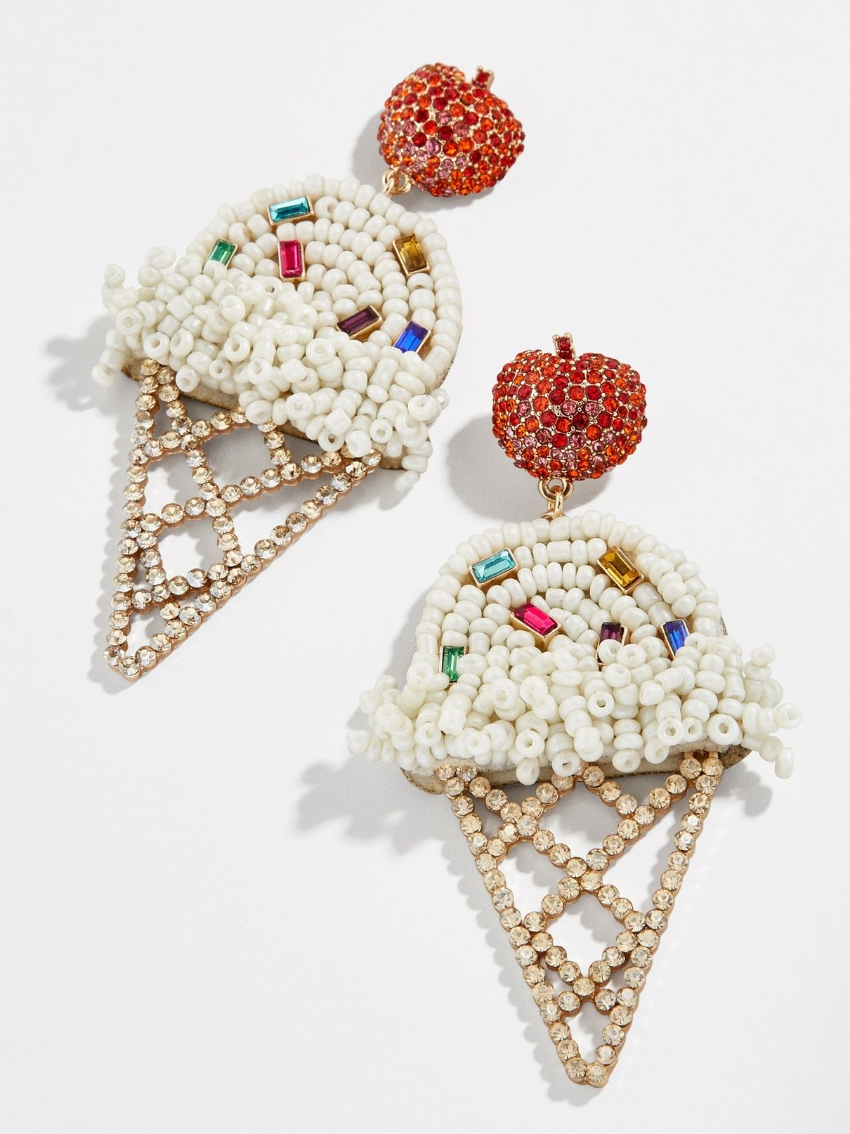 925 Sterling Silver Ice Cream Colorful Ear Studs