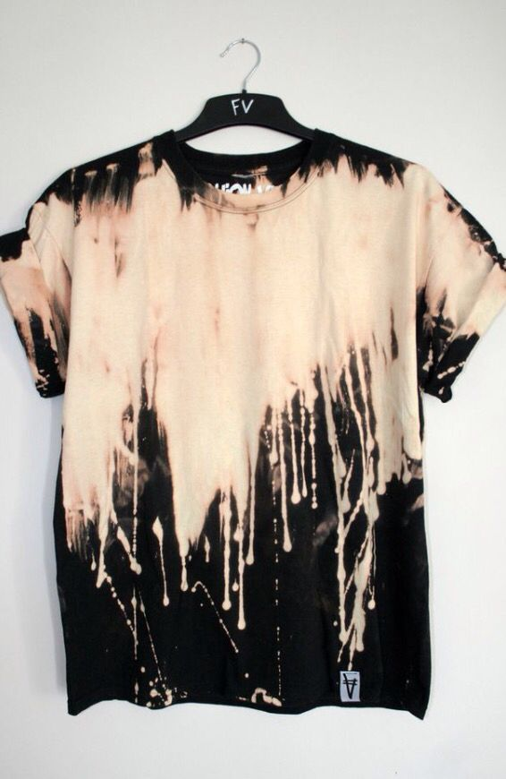 Bleach Drip Black Shirt | Festival Tee Shirts | Pinterest | Grunge ...