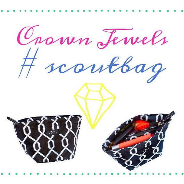 Our Crown Jewels scoutbag is great for cosmetics, storage