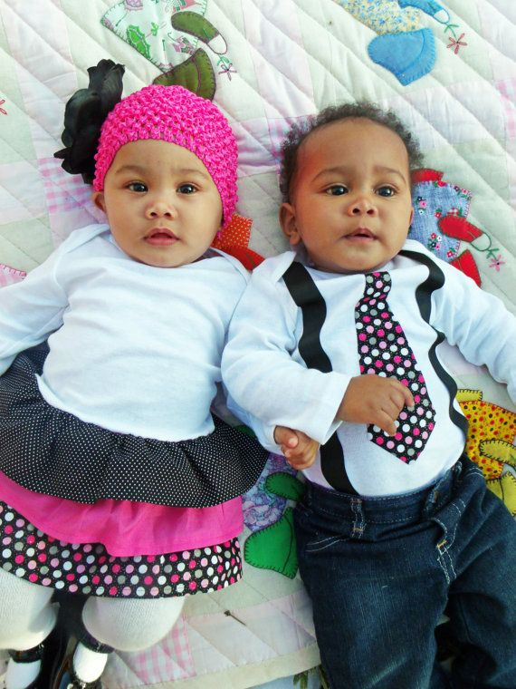 Boy Girl Twin Matching Outfits Sibling Pink And By Thetwinshop