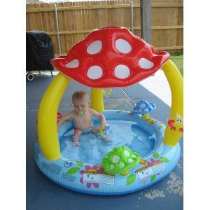 Mushroom Baby Pool 40 X 35 How Cute Is This Baby Pool Inflatable Baby Pool Baby Toys