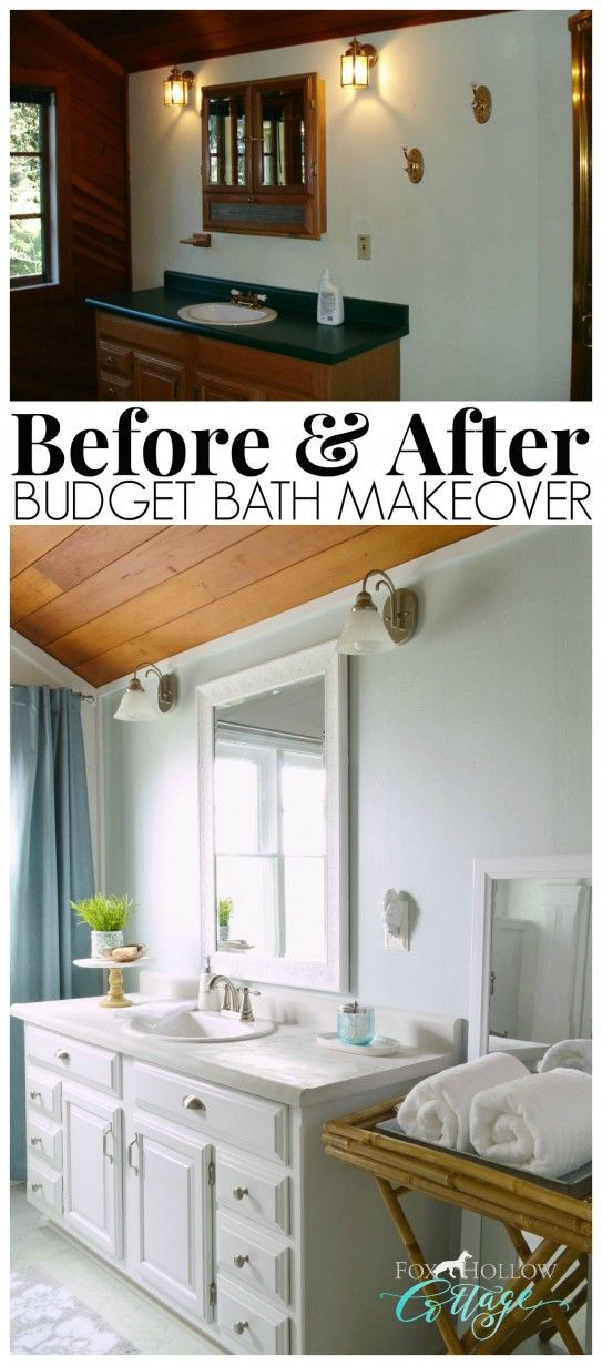 How To Makeover A Bathroom Without Remodeling Diy Bathroom Makeover Home Renovation Room Makeover