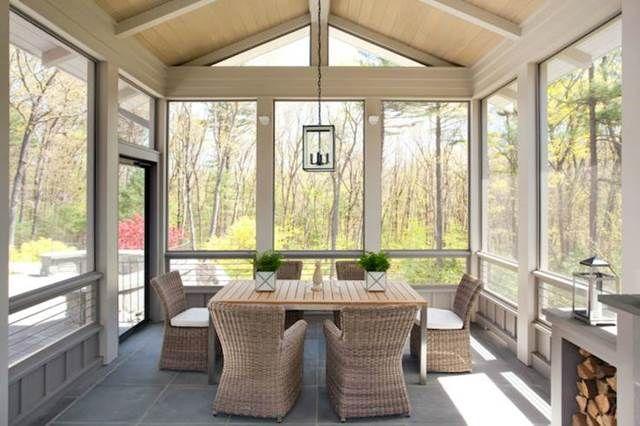 Trucchi per arredare una veranda chiusa   PORCH & VERANDA   Verande ...