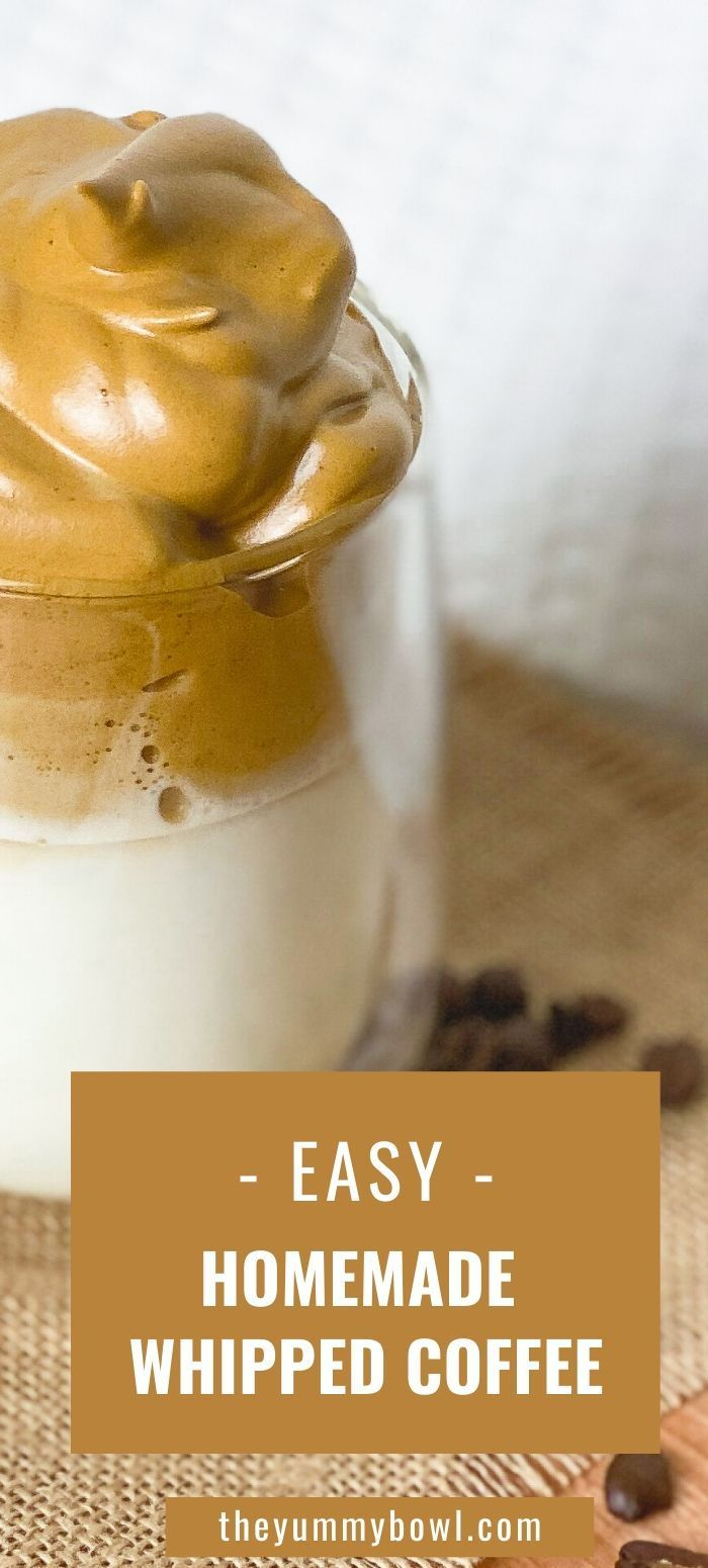 Dalgona Whipped Iced Coffee The Yummy Bowl Recipe in