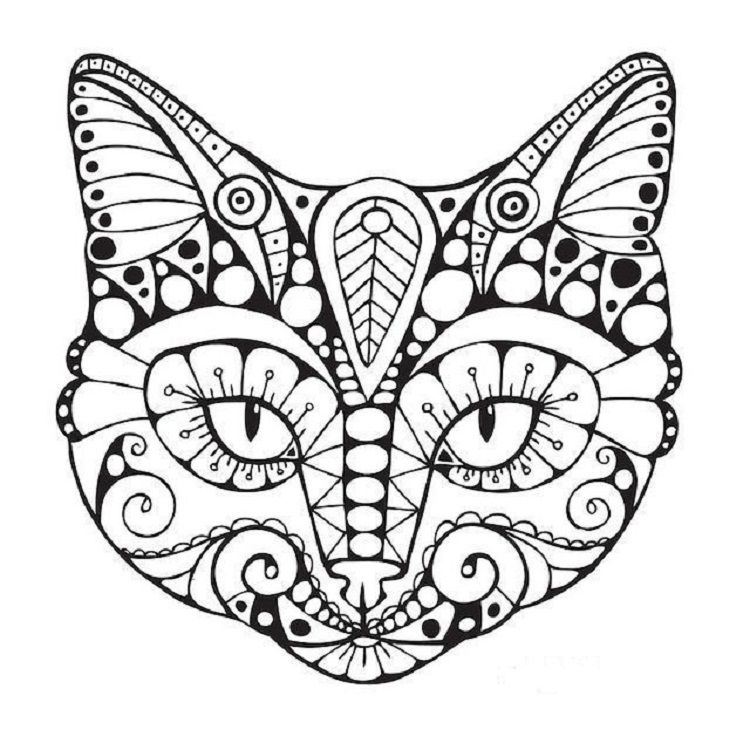 Geometric Cat Coloring Pages Cat Coloring Page Cat Coloring