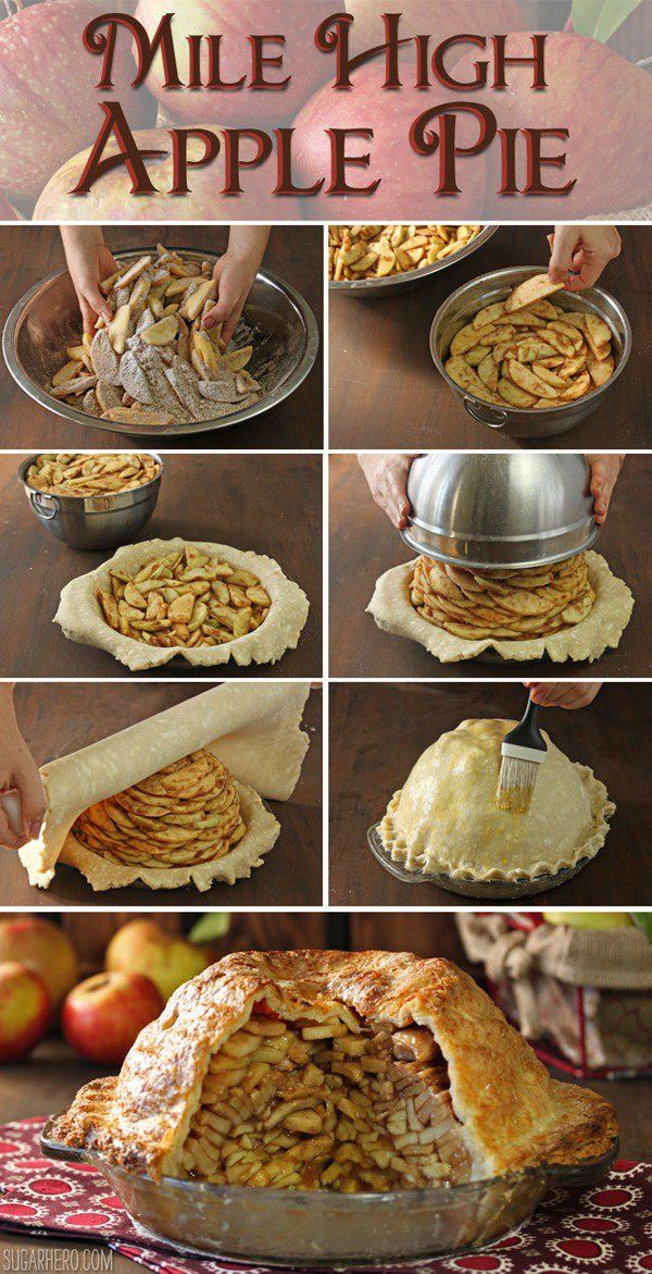 Mile High Apple Pie #applepie