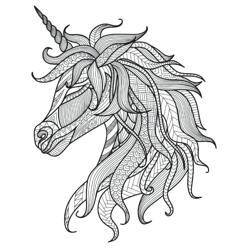 Hard Coloring Pages Of Unicorns