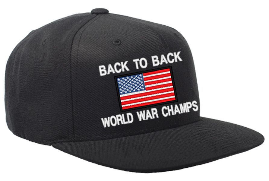 c0cc6db4f2b Back to Back World War Champs USA Snapback Hat